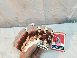 Vtg Starcraft  Playing Cards 1968  NFL Football St Louis Cardinals  Advertising