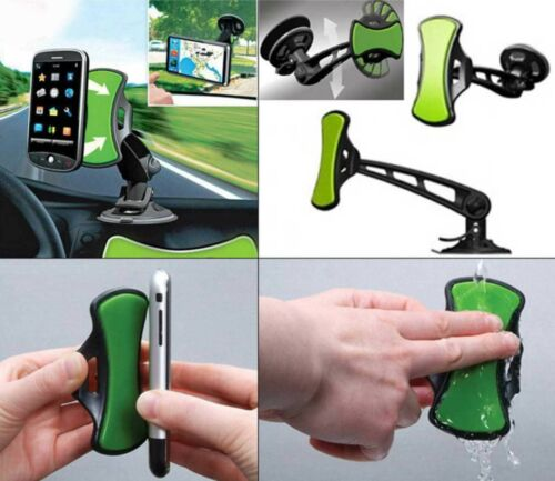 New Universal Grip and Go Hands Free Mobile Phone  Sat Nav Mount Car Holder