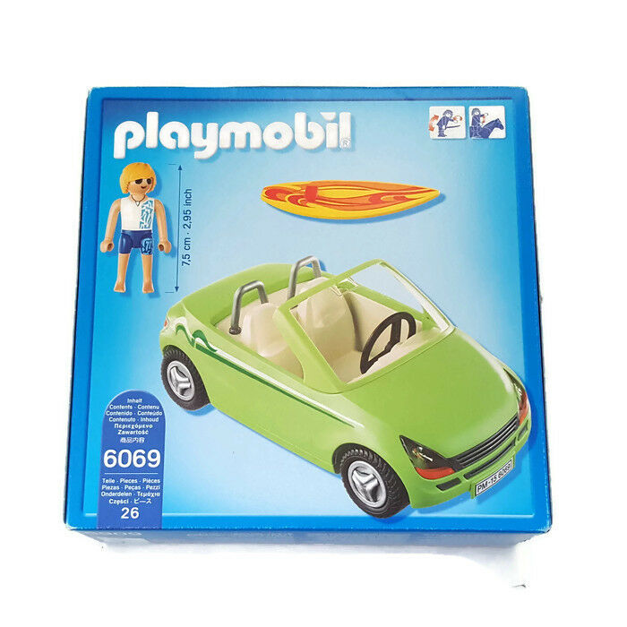 Playmobil Surfer with with with Congreenible 6069 Roadster Cabriolet Surfeur Sport Car Auto da2fe6