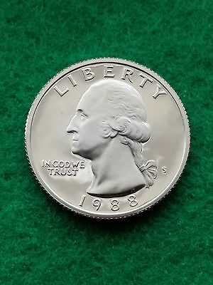 """1985-S GEM PROOF UNCIRCULATED WASHINGTON QUARTER *FROSTED DEEP CAMEO /""""NO TONING/"""""""