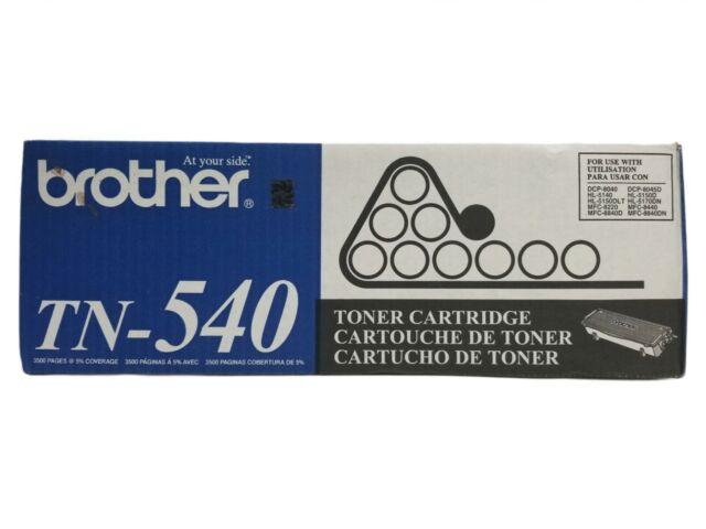 Brother TN-540 Black Toner Factory Sealed Genuine OEM BRAND NEW in Damaged Box