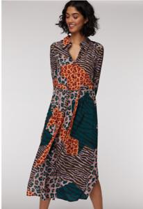 🌈New Gorman Zazu Animal Printed Shirt Long Dress Size AUS 16-18 XL 🐅🦓