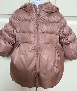 1f30b5820 BABY GAP Pink Mauve Winter Puffer Jacket Toddler Girls Sz 12-18 Mths ...