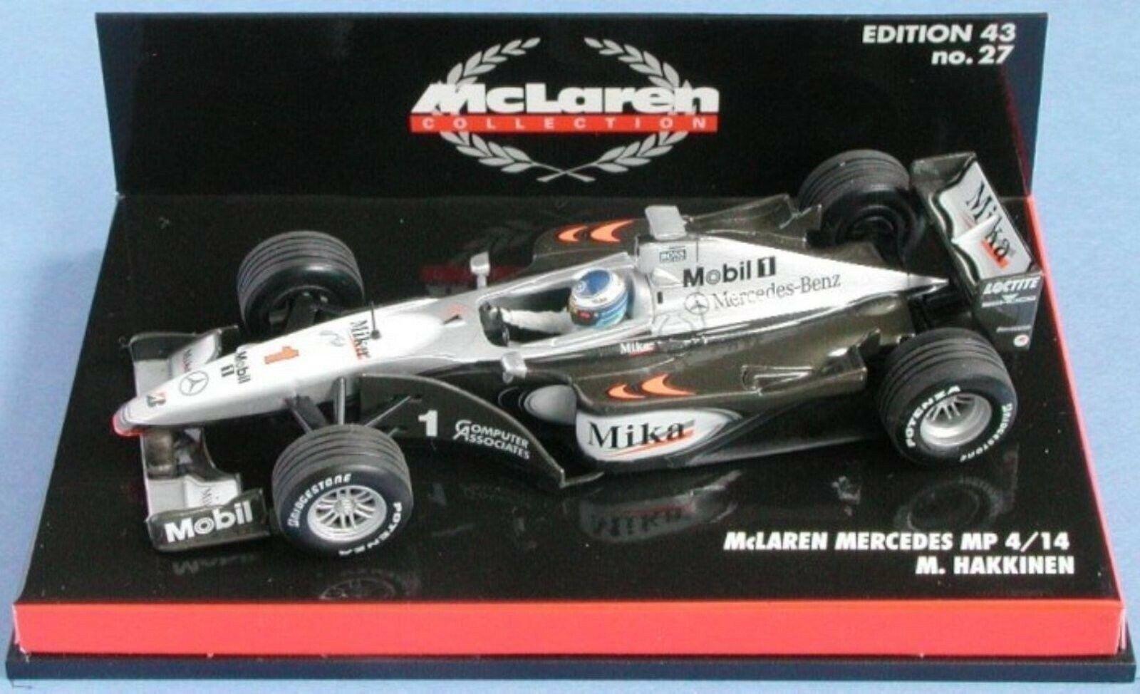 WOW EXTREMELY RARE McLaren 1999 MP4 14 MB Hakkinen GP France 1 43 Minichamps