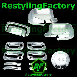 Chevy-Tahoe-Chrome-Mirror-4-Door-handle-Passenger-Keyhole-Tailgate-Gas-Cover