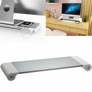 Monitor Stand Space Bar Desk Organizer With 4 Usb Ports Cable Set Aus
