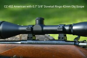 Scope Rings 11mm And 3 8 Dovetail Fit Anschutz Cz 452 455 457 1 30mm Ebay