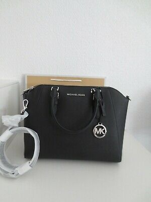 Michael Kors Tasche MK CIARA LG SATCHEL Black Leder Handtasche Schultertasche | eBay