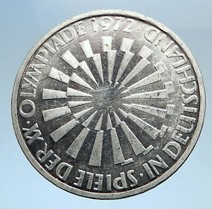 1972-Germany-Munich-Summer-Olympic-Games-SPIRAL-10-Mark-Silver-Coin-i74040