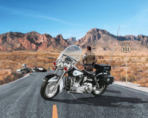 Us Police Motocicletta Revell Modellino Moto Kit di Costruzione 07915