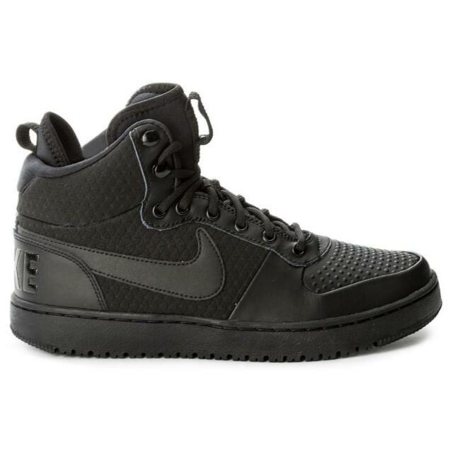 Nike Court Borough Mid Winter Men\u0027s Shoes Size 13 Triple Black Aa0547 002