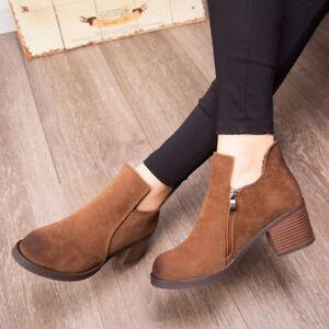Women-Martin-Boots-Black-Autumn-Shoes-Work-Boots-Flat-Heel-Ankle-Boots-Hot
