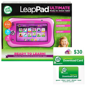 LeapFrog LeapPad Ultimate Get Ready for School Tablet Pink with Bonus 30 Downloa