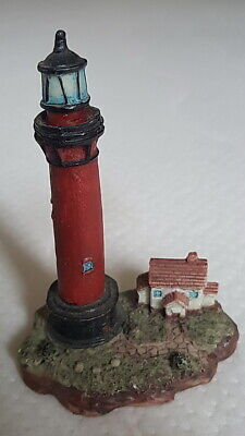 A937) Leuchtturm Lighthouse Tower Polyresin Modell Eisenbahn Aquarium 7,5x10,5cm