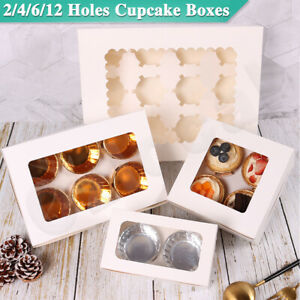 Cupcake-Boxes-2-4-6-12-Holes-Clear-Window-Face-Cupcake-Display-Boxes-Muffin-Cups
