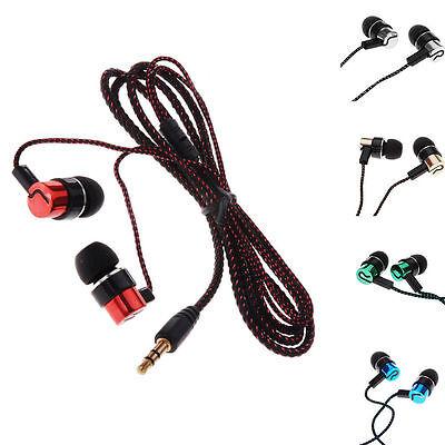 ear 4 MP3 5 auricolari auricolari rumore in isolando Cuffie metallo EP02 intrecciato ERCzwxqC4
