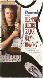 100% Vrai Beginning Electric Guitar With Andy Timmons [vhs, Ibanez 1996]