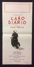 LOCANDINA ORIGINALE CARO DIARIO NANNI MORETTI VESPA PIAGGIO CASCO CULT 1° ED 93