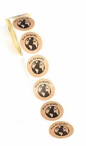 Etichette adesive Kraft, eco-friendly per etichettare i prodotti (m0F)