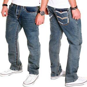 JEANS-Uomo-Chino-Blu-Tempo-Libero-matrimonio-Kosmo-Lupo-Pantaloni-Clubwear-Nuovo-j-5-9