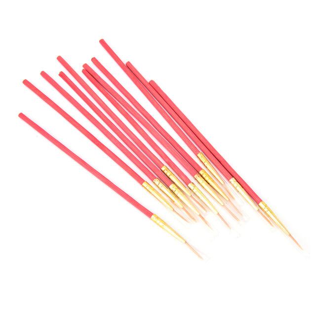 Red 10X/Set Fine Hand-painted Thin Hook Line Pen Drawing Art Pens Paint Brush JR