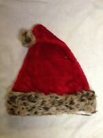 Animal Print Santa Hat - Red - Support Animal Rescue