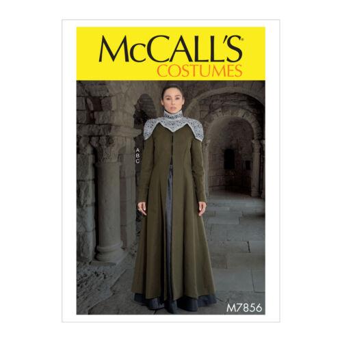 McCall/'s 7856 Patrón De Costura Para Hacer Falda /& Cápsula De Abrigo-Juego de Tronos