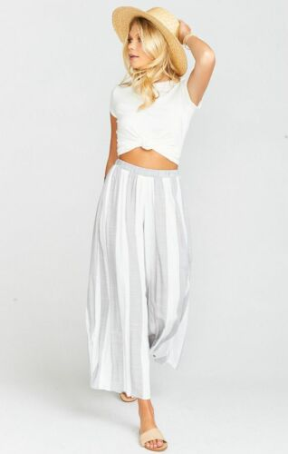 Show Me Your Mumu Explorer Gaucho Pants Grey White
