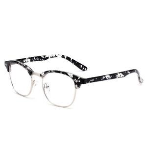 9a93763355 Natwve Co Men Women Retro Computer Eyeglasses Semi-Rimless Half ...
