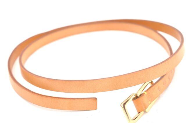 Authentic Louis Vuitton Leather Shoulder Strap Beige LV 60853
