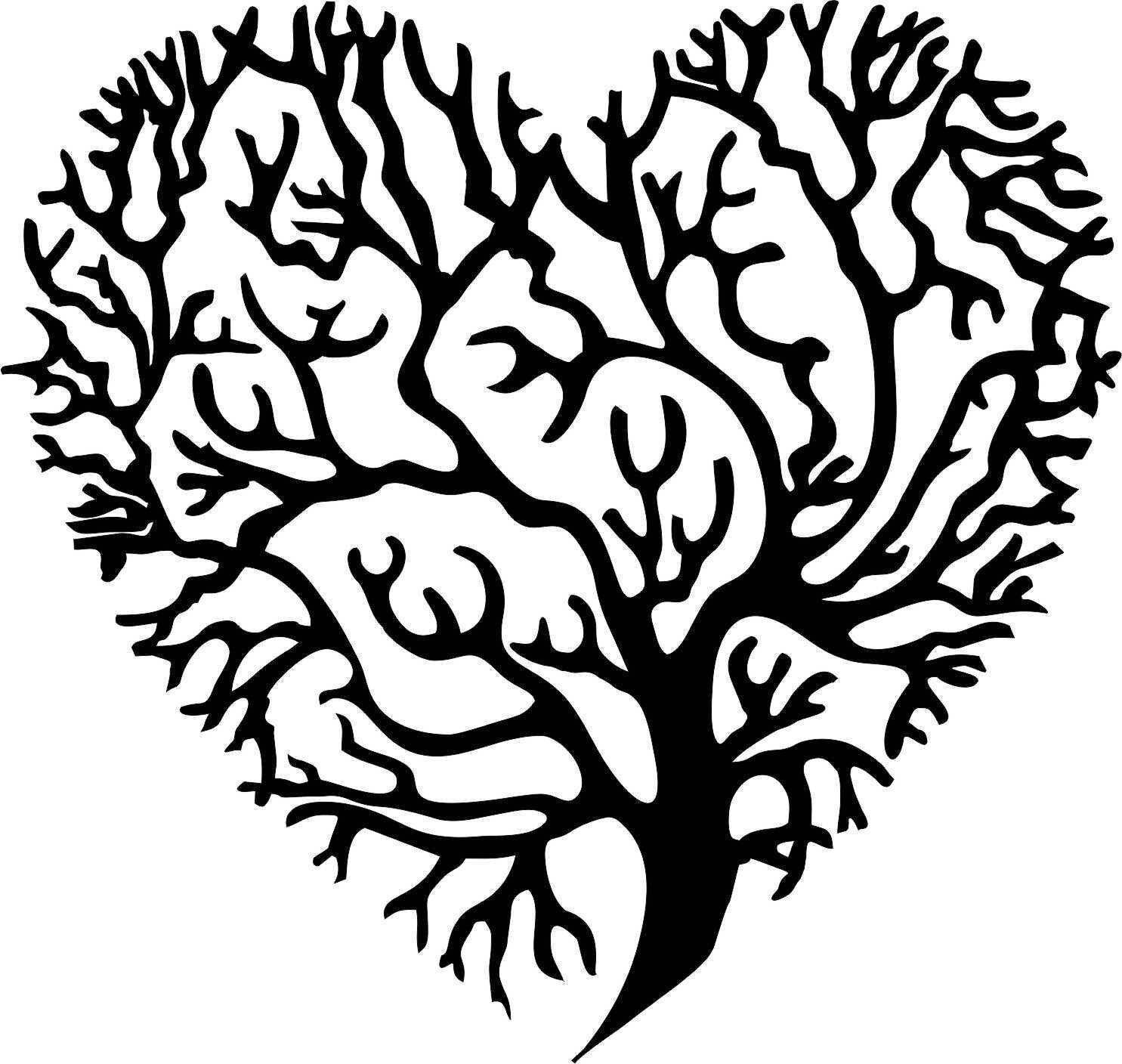 Living Baum Koralle Zweig Herz Metall Wandkunst Dekor Schwarz Seidenmatt 50.8cm   Ich kann es nicht ablegen