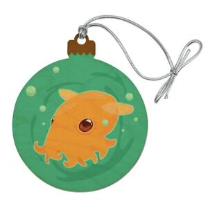 Cute Dumbo Octopus Wood Christmas Tree Holiday Ornament Ebay