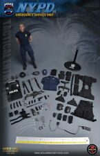1/6 Soldier Story Ss100 NYPD ESU K-9 Policeman and Police Dog Figure in Stock