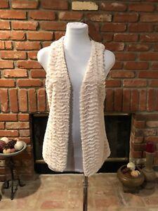 BoHo-CHIC-Beige-Oatmeal-Soft-Plush-Versatile-Faux-Fur-Jacket-Vest-SM