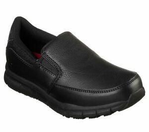 Skechers-shoes-Work-Black-Women-Memory-Foam-Flex-Relax-Fit-Slip-Resistant-77236
