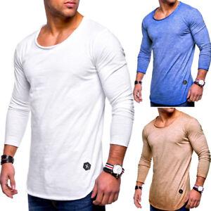 BEHYPE-T-shirt-hommes-oversize-US-Pull-Sweatshirt-Manches-Longues-Shirt-Nouveau