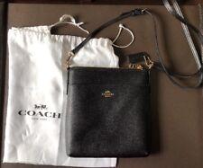b76b0b6ddd Coach Messenger Courier Crossbody In Crossgrain Leather 59975 Black Gold