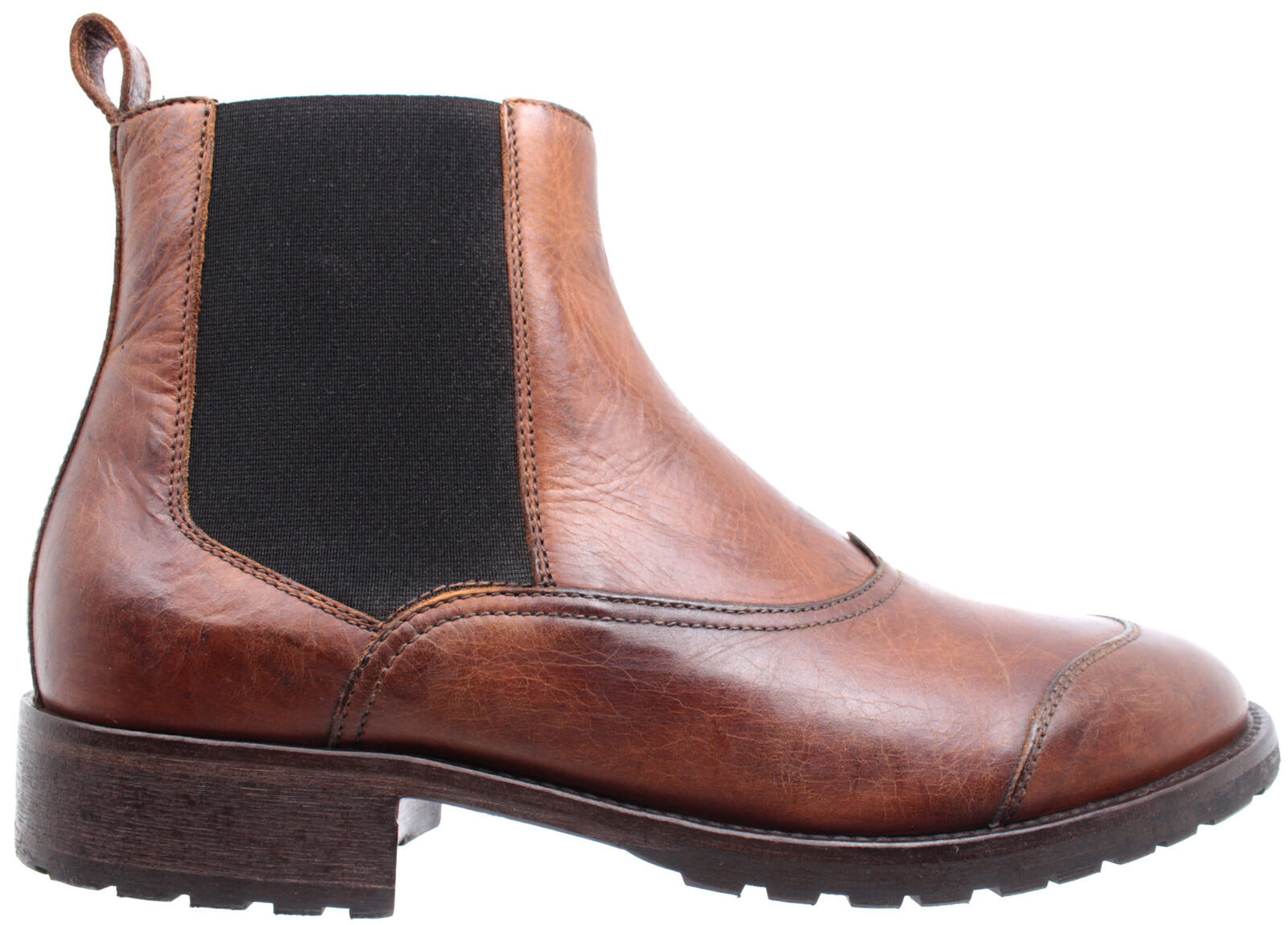 BELSTAFF Para hombre Zapatos botas al Tobillo 77800231 Ladbroke Cognac Cuero Hecho en Italia