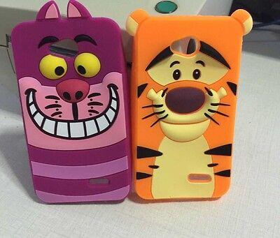 Cartoon 3D Tigger Cheshire Cat Soft Silicone Back Case For LG Optimus L70 L90