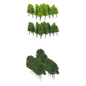 1/200 Model Trees Mixed 1/150 Model Railroad Tree for Scenery Landscape