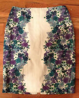 Roz & Ali Lined Floral Skirt Womens 6