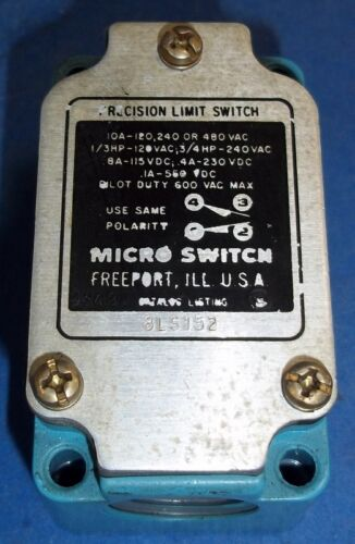 MICRO SWITCH 10A 120//240//480V LIMIT SWITCH 8LS152