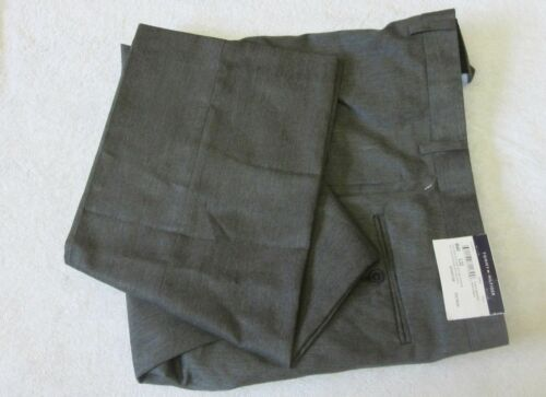 NWT $95.00 Sz 40X32 Tommy Hilfiger Grey Flat Front Trim-Fit Solid Dress Pants