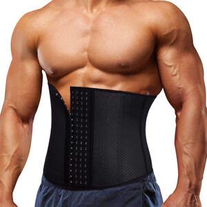 US-Men-Waist-Trainer-Cincher-Body-Fajas-Corset-Gym-Sport-Women-Shaper-Slim-Belt