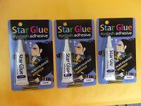 3 Star Eyelash Glue Dark Adhesive 1/4 Oz - Free Ship