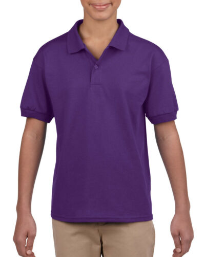 GILDAN CHILDREN/'S JERSEY POLO SHIRT PLAIN SPORT PE WICKING UNIFORM COLOURS KIDS