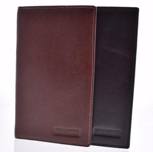 NUOVO Uomo Gents Branded Giacca in Pelle//Cappotto portafoglio borsetta Carta di Credito Passaporto