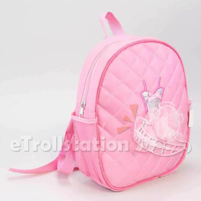 f56a9b51a58e Lovely Girls Backpack Dance Bag Ballet Tutu Tap Quilted 3d Dress ...