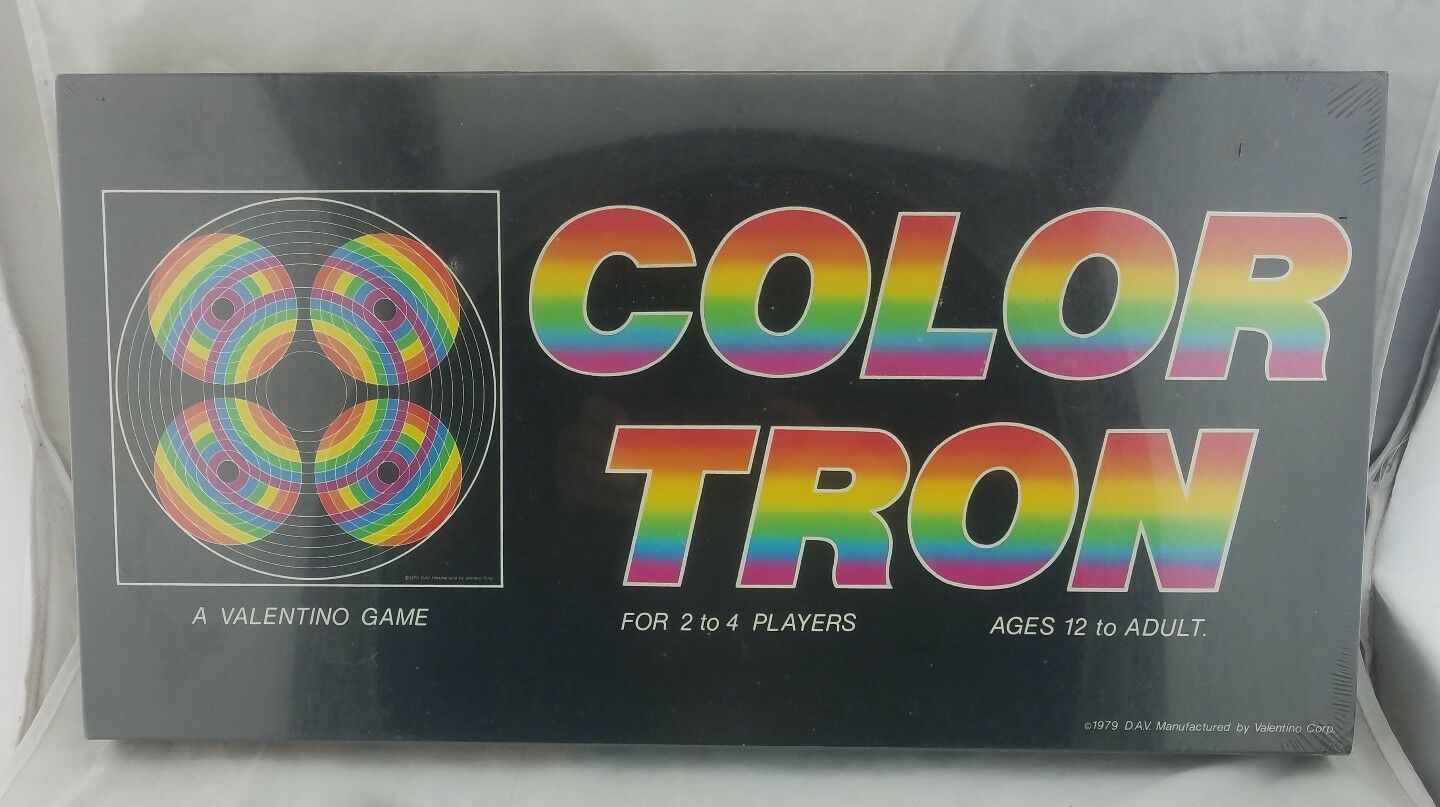 Vintage COLOR TRON Board Game by D.A.V. Valentino Corp 1979 RARE Factory Sealed