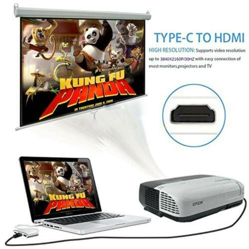 USB-C to HDMI VGA USB 3.0 Charging Hub Adapter For Samsung Galaxy S8 S8 AU